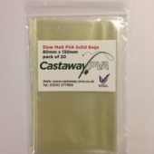 SLOW MELT SOLID PVA BAGS 80mm x 130m